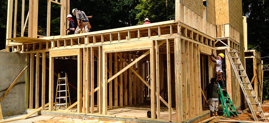 West Georgia Construction framing a house
